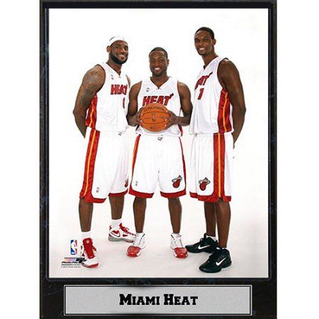 lowest price 48b9d 1942a NBA Miami Heat Big 3 Photo Plaque, 9x12 | Products | Nba ...