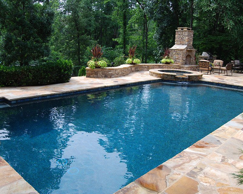 rectangular pool with hot tub google search - Rectangle Pool With Spa
