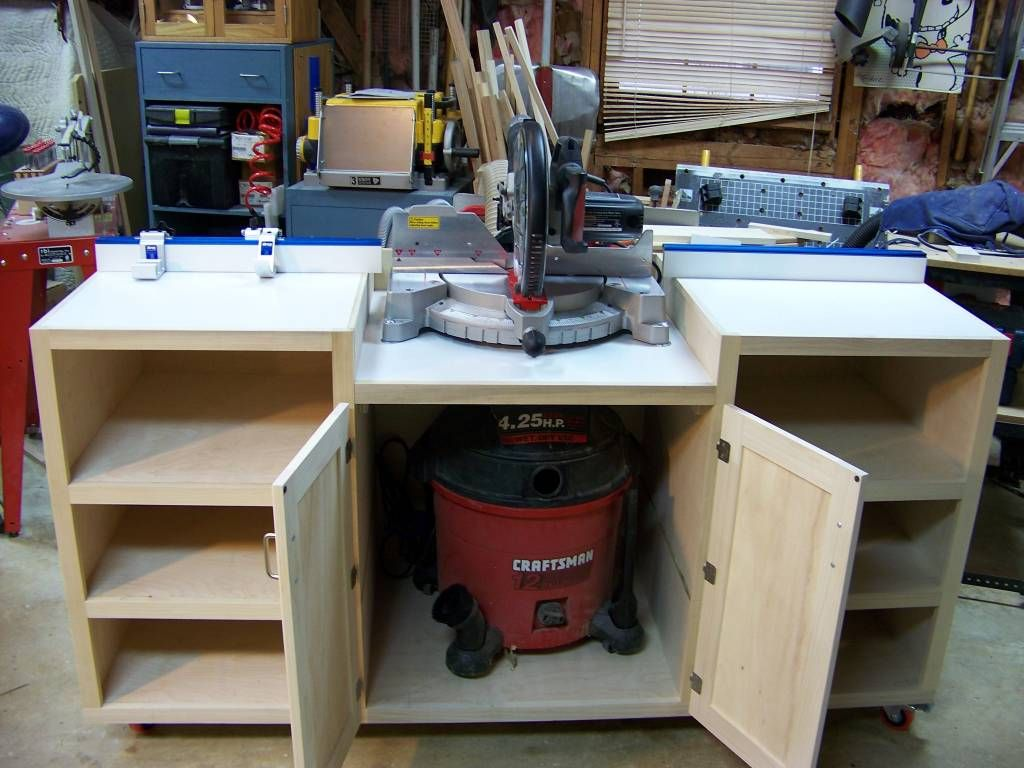 Miter saw table pinteres for Table saw table plans
