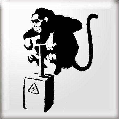 Banksy Monkey Detonator Reusable STENCIL Airbrushing Urban Graffiti Wall Art