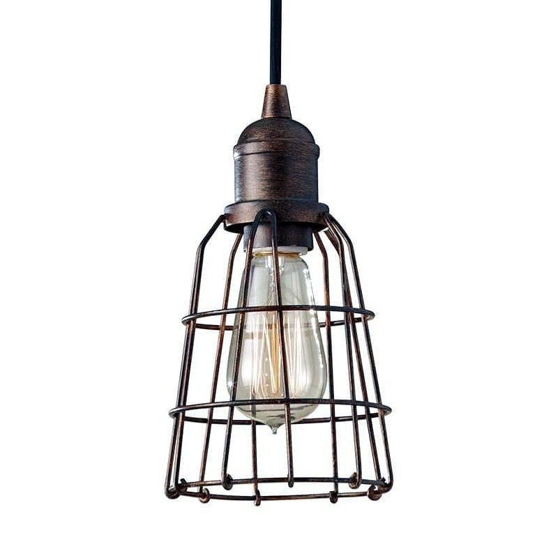 feiss p1246 urban renewal 1 light mini pendant with wire cage shade rh pinterest com