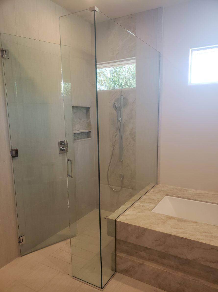San Diego Custom Frameless Glass Shower Enclosure Glass Shower