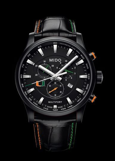 98fea0ccf14 TimeZone   Industry News » INDUSTRY NEWS - Mido Official Timekeeper of  University of Miami Hurricanes