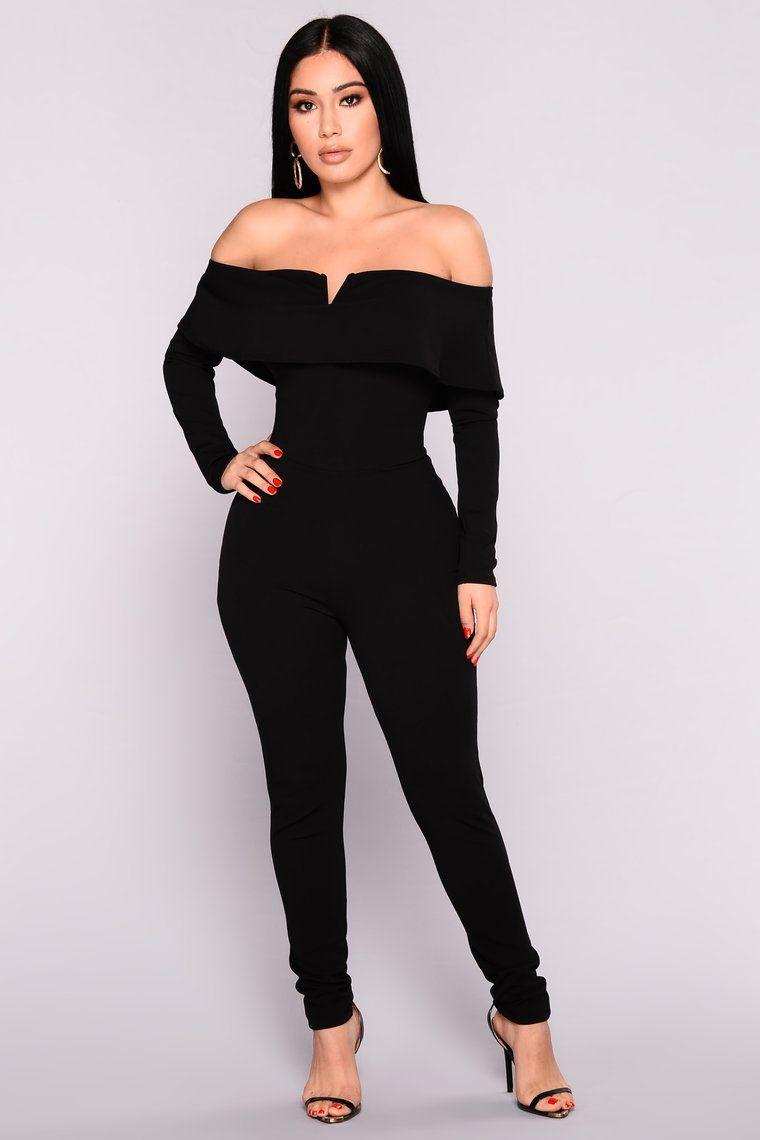 Very V Wire Jumpsuit Black Fashion, Fashion nova