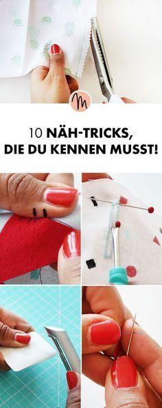 Peu d'aide pour les débutants – 10 trucs et astuces de couture que vous devez savoir via …   – nähen
