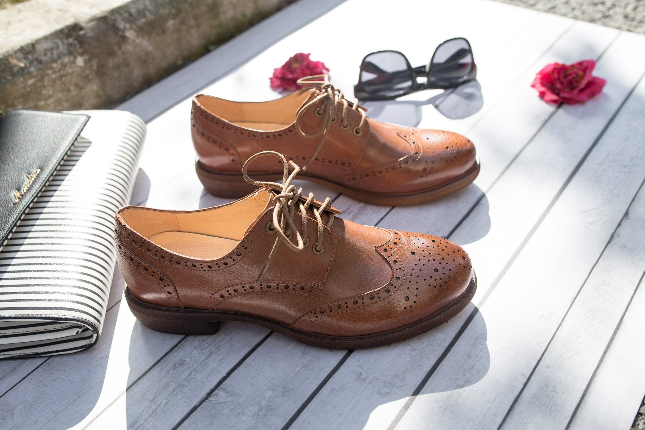0016be94ba8012 Oxford Shoes for Women Womens Oxfords Wingtip Women Oxford Wingtip Black  Dress Flat Brown Laces Leather