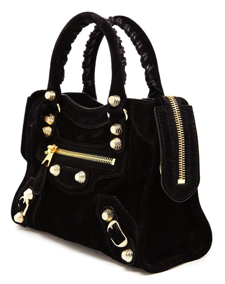 2476f4acebcb  Balenciaga Mini City  Bag in Black Suede http   raindropsofsapphire.com