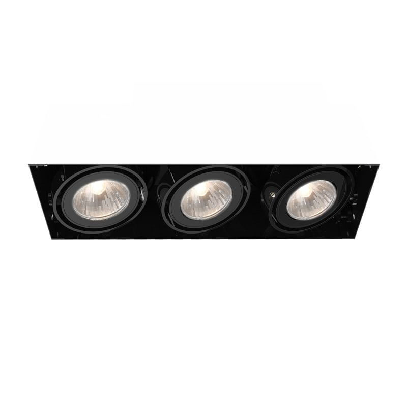 Eurofase lighting te213 trimless multi recessed gu5 3 3 light recessed trim for black recessed