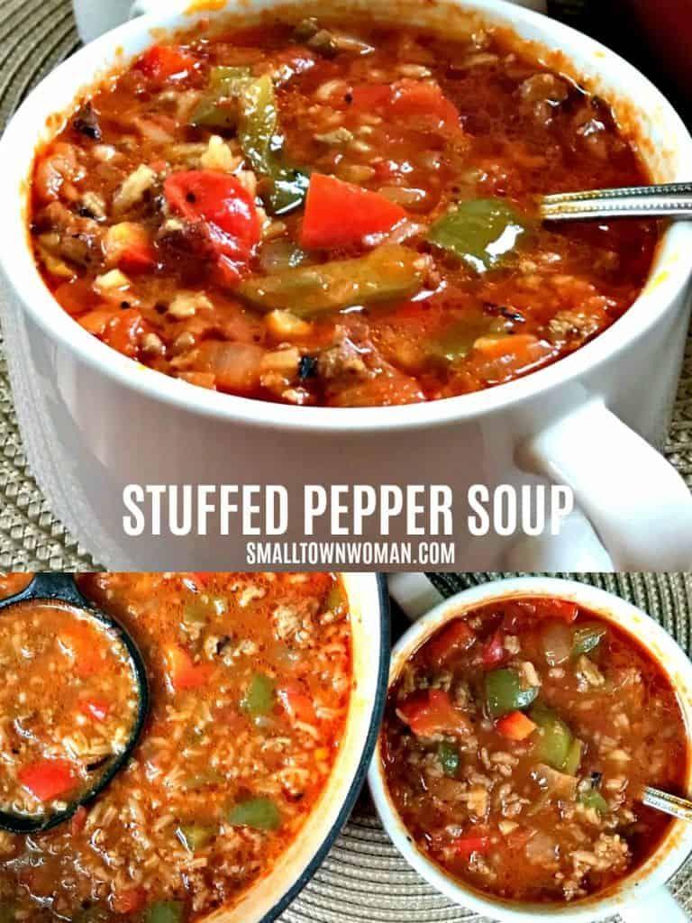 Stuffed Pepper Recipe Stuffed Pepper Soup Stuffed Peppers Comfort Food Recipes Dinners