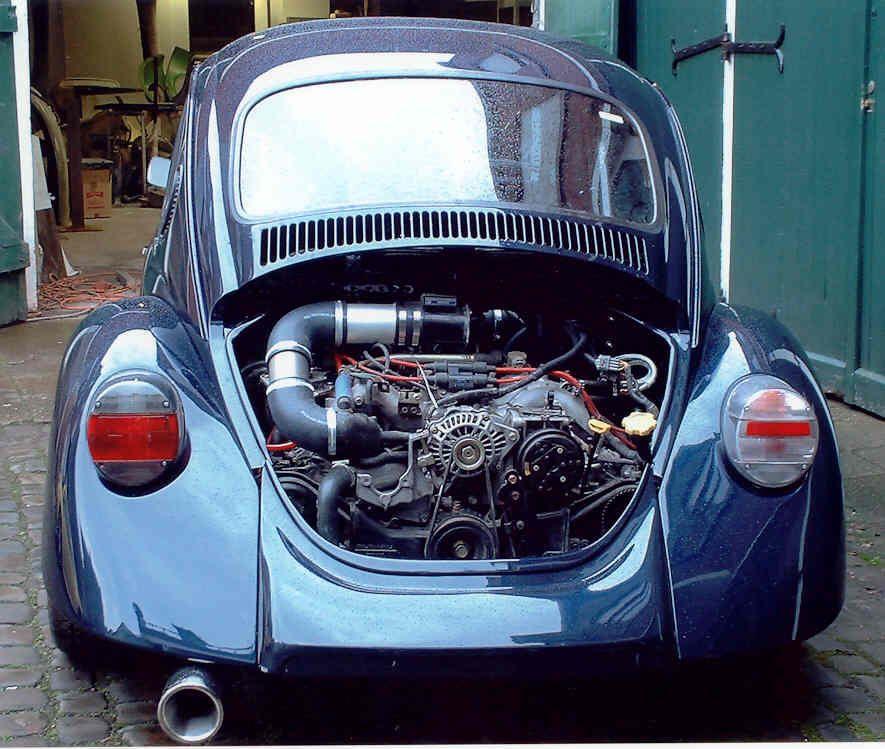 Vw Super Beetle Engine Upgrade: With Subaru Installed