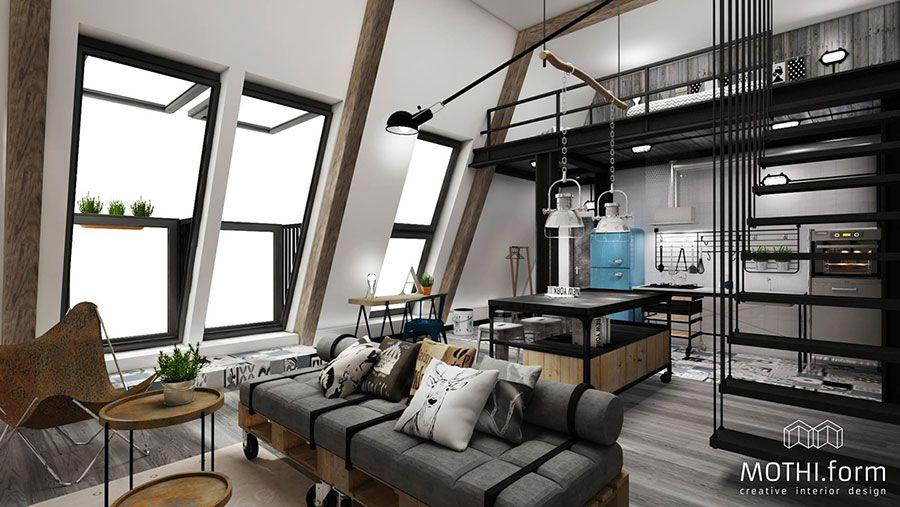 Come Arredare Open Space Cucina Soggiorno 46 Progetti Ed Idee Mondodesign It Disegno Loft Interior Design Per Appartamenti Interno Appartamento