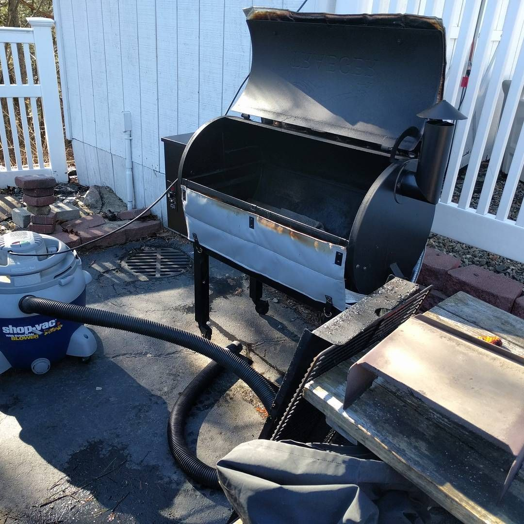 Beautiful day out time to clean the traeger
