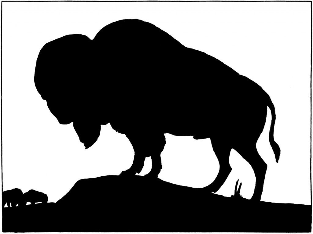 vintage buffalo silhouette image silhouette images graphics fairy rh pinterest com au buffalo clip art black and white buffalo clipart