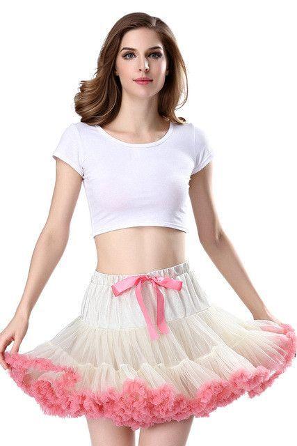 da4a875e5 EKO&LUX Free Shipping Womens Skirt Fluffy Chiffon Pettiskirts Tutu Skirts  Girls Princess Party Skirt for Lady Adult Tulle Skirt