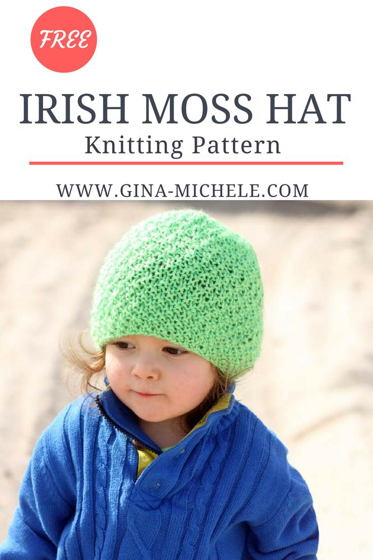 Irish Moss Hat Knitting Pattern   Knitting patterns ...