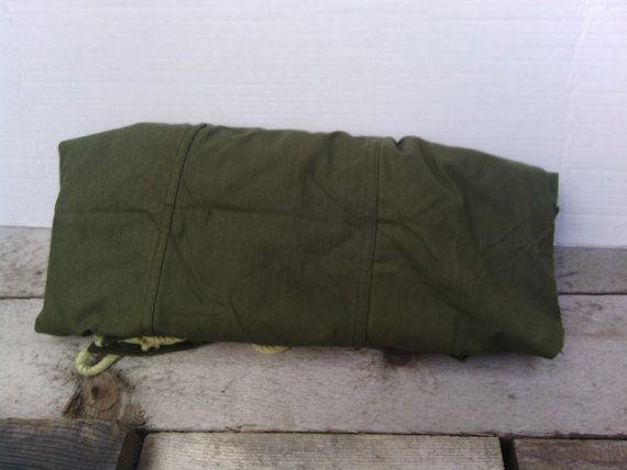 U.S. Military Pup Tent Half Tent by vintagejunkeez on Etsy
