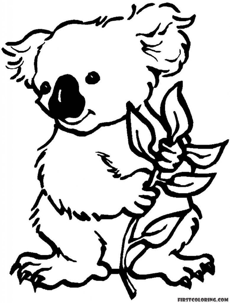 Koala Bear Coloring Page To Print Bear Coloring Pages Animal Coloring Pages Koala Bear