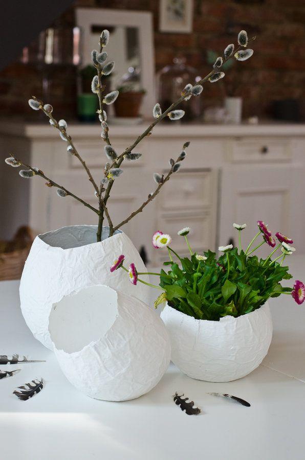 ostereier aus pappmach pinterest pappmach ostereier und solebich. Black Bedroom Furniture Sets. Home Design Ideas