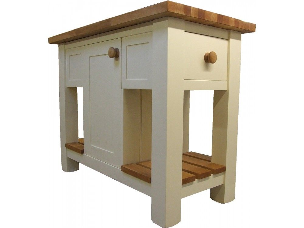 Freestanding Painted Kitchen Island Deep Dovetailed Drawers 400mm Double Sided Cupboard Freestanding Kitchen Island Painted Kitchen Island Kitchen Island
