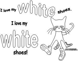 Pete the Cat colored shoes activity available at www