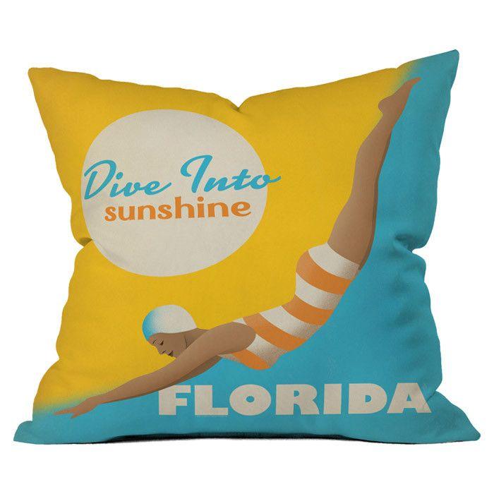 Anderson Design Group Dive Florida Pillow