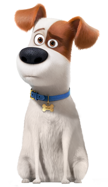 The Secret Life Of Pets Max Transparent Png Image Pet Max Cute