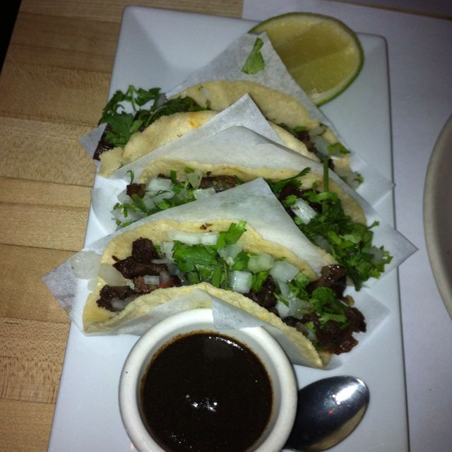 Braised beef cheek tacos w/ caramelized chipotle salsa