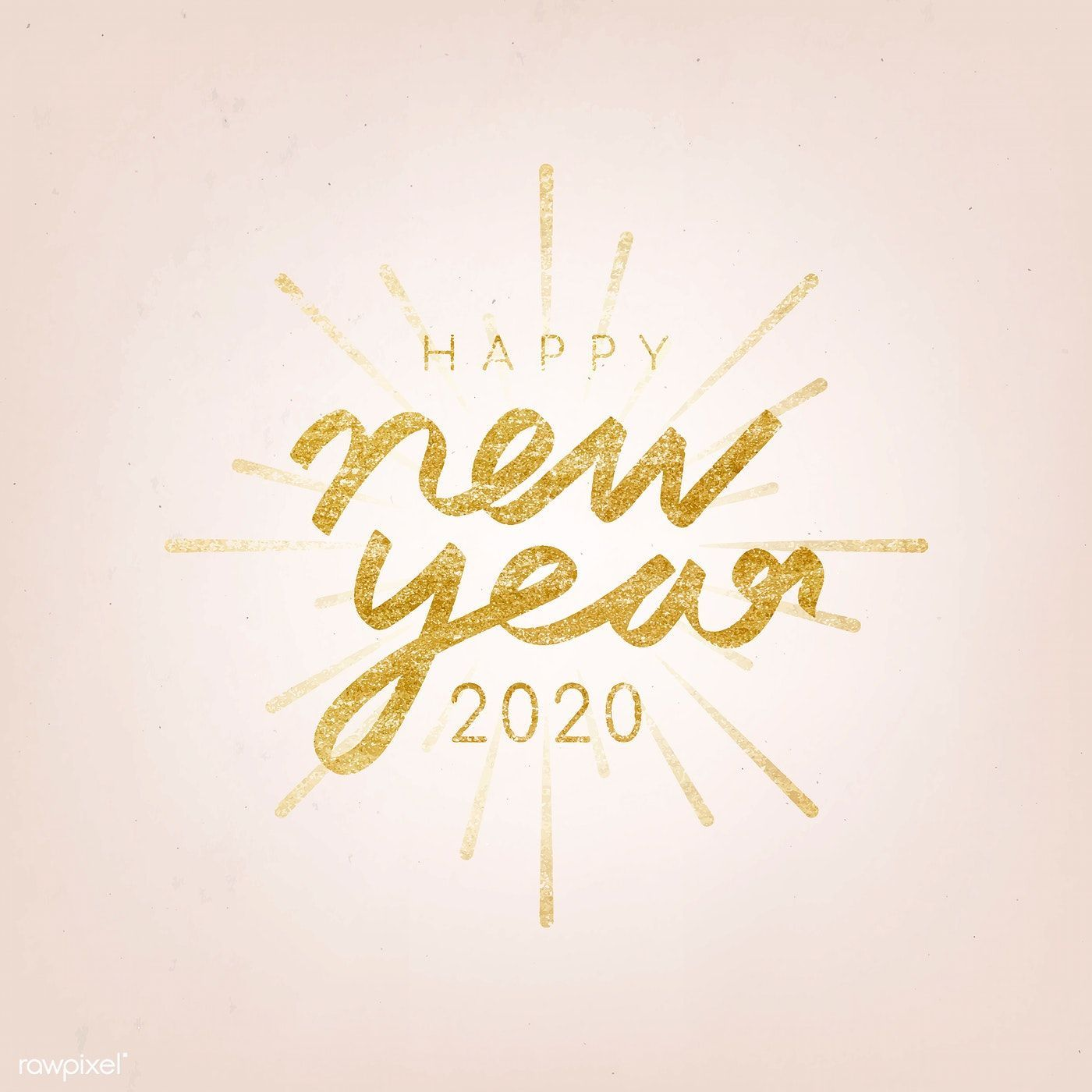Happy New Year 2020 vector | free image by rawpixel.com / NingZk V. #happynewyear2020quotes