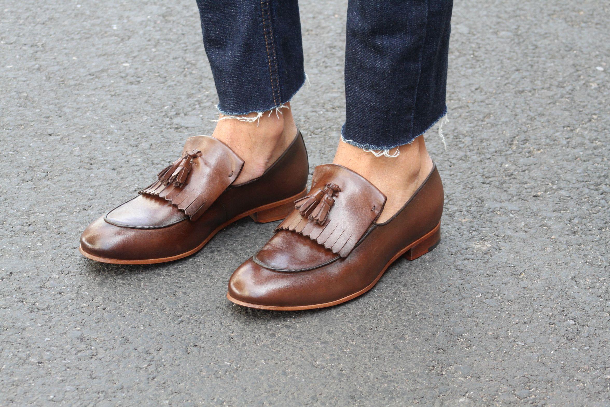 42bb14ef89 Sapato Social Masculino Loafer CNS + em couro cor Café com solado em couro.   cns  cnsmais  sapato  social  loafer  mocassim  couro  leather  shoes  men