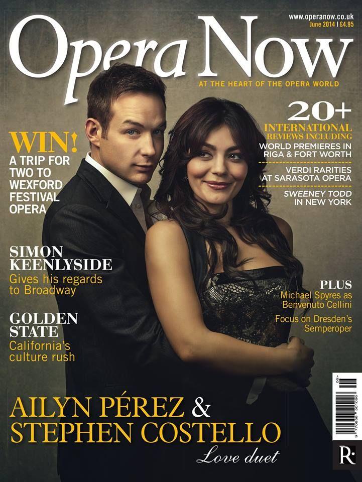 Ailyn Pérez y Stephen Costello, portada de Opera News, Junio 2014