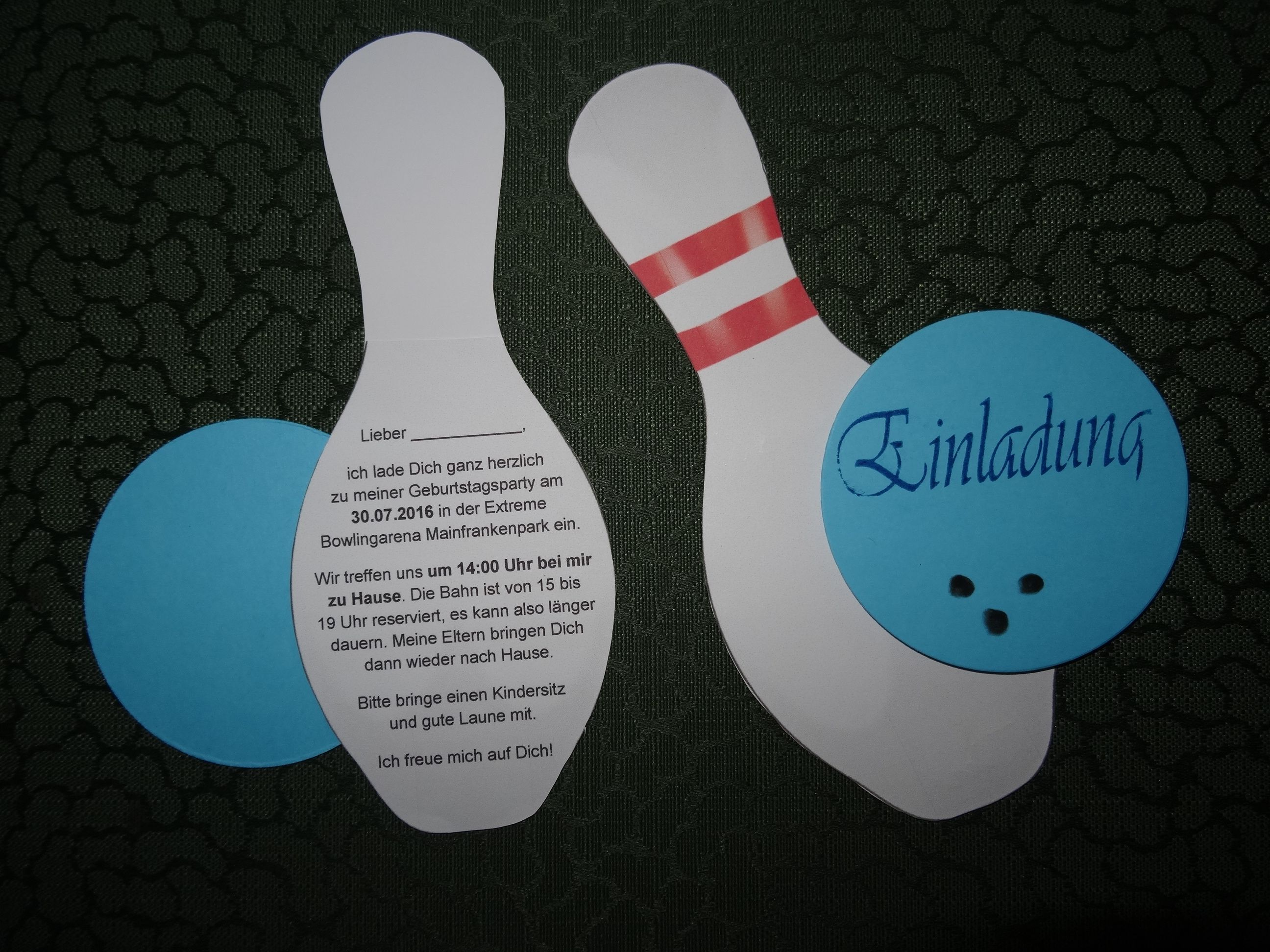 einladung geburtstag kindergeburtstag bowlingparty, Einladung