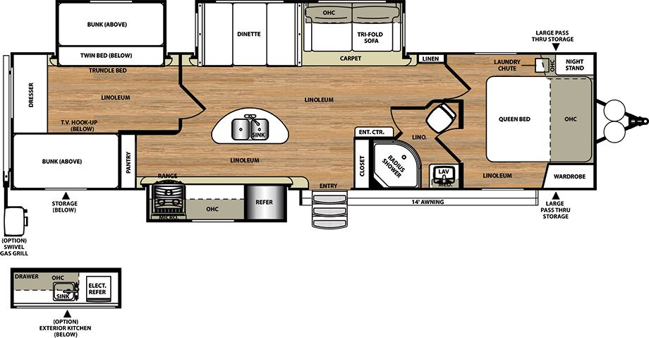 Travel Trailers by Forest River RV - Salem Hemisphere 300BH -  28000  Kitchen Island caa8aa80b