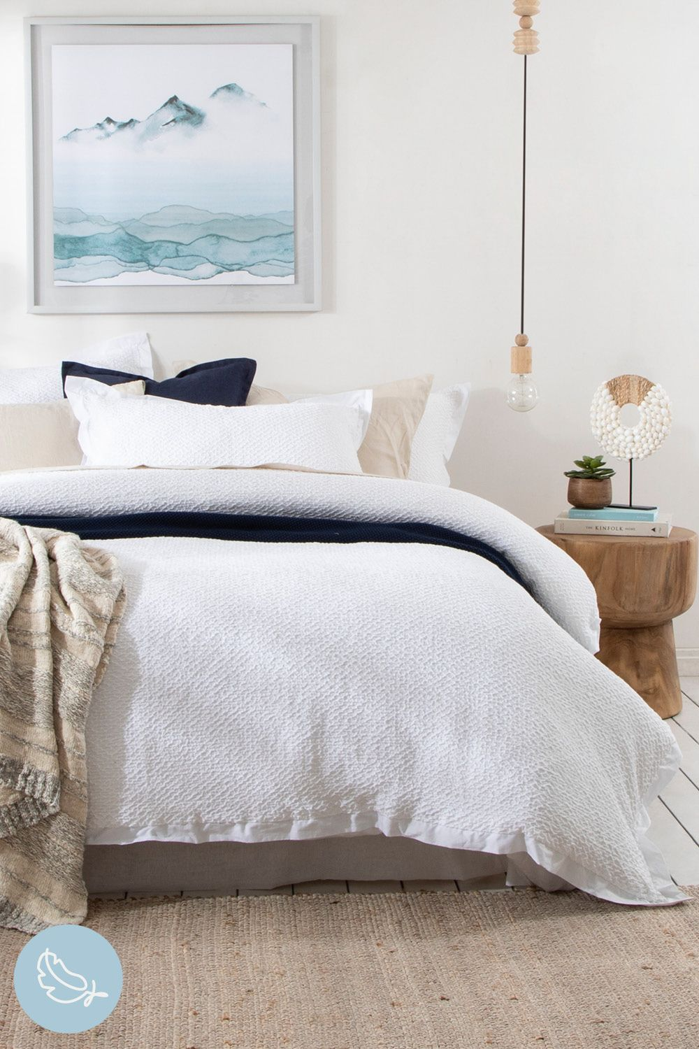 Give your bedroom an ultra-luxe update with our Hunter Quilt Cover Set. The stunning, crisp white design is beautiful textured - it truly feels as good as it looks! #PillowTalkAustralia #ForTheLoveOfComfort #bedroomdecor #bedroomstyling #quiltcoverset #quilt #bedroom