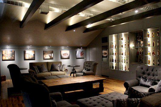 Bildergebnis für dachschräge mit balken beleuchtung