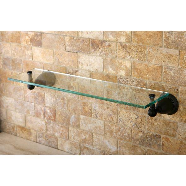 Oil-rubbed Bronze Bathroom Glass Shelf | home | Pinterest | Bronze ...
