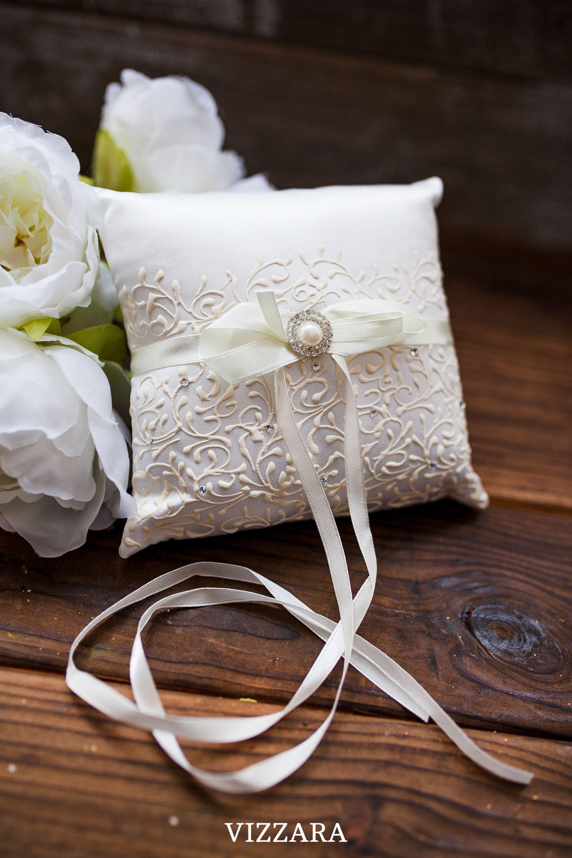 ivory ring bearer pillow ring bearer