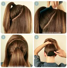 how to get your hair Messy Ponytail with Braid Crown for long ...