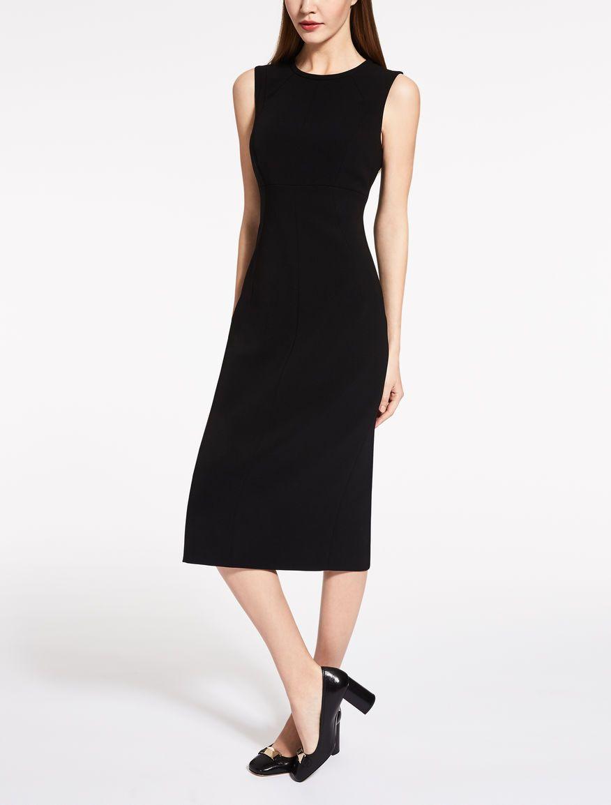58d116954de Max Mara MITICO black  Cady dress.