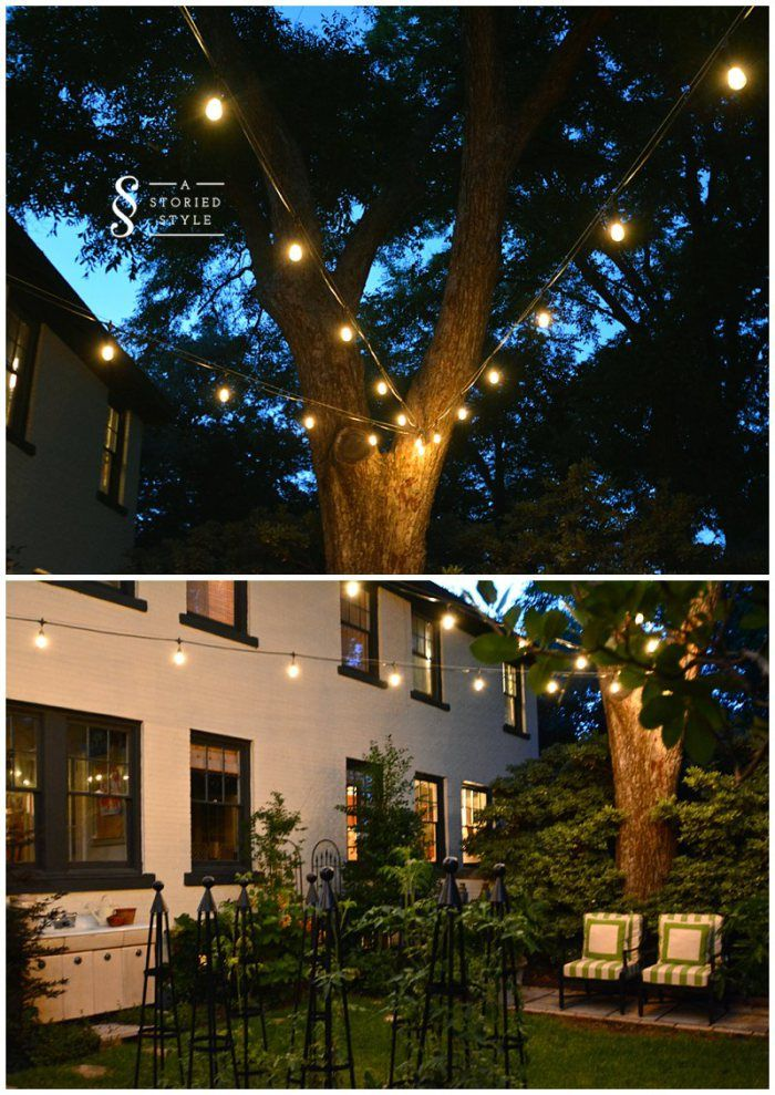 How To Hang String Lights How To Hang String Lights In Your Backyard From Blogger Grace Of A