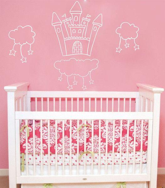 Kinderzimmerdekoration - Wandtattoo Kinderzimmer | Schloss - ein ...