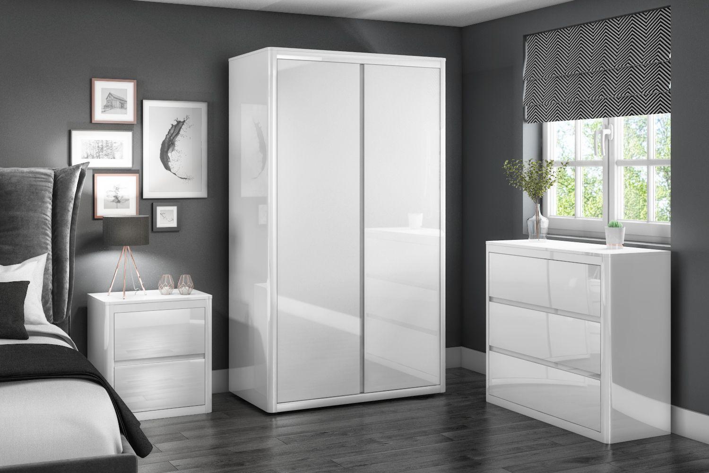 Lexi White High Gloss Bedroom Furniture White Gloss Bedroom