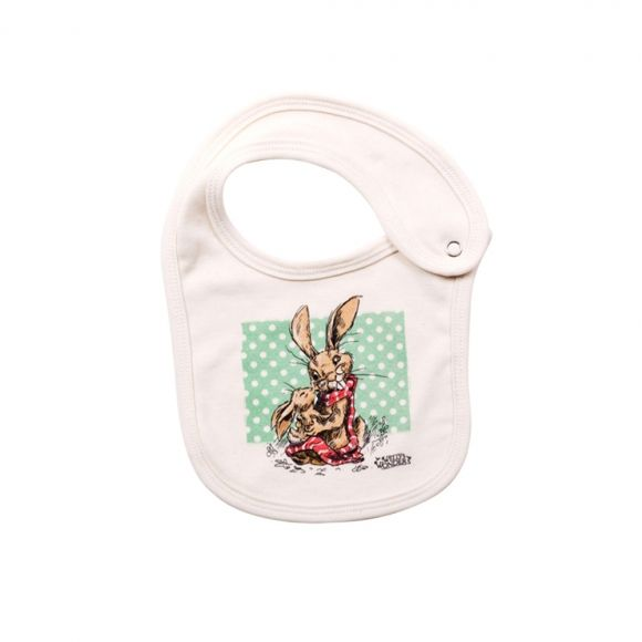Jenkins the hare baby kiss organic cotton bib shop now at www buy gifts online from hard to find gifts australia hard to find homewares online gifts for him gifts for her gifts for kids unique gift ideas negle Images