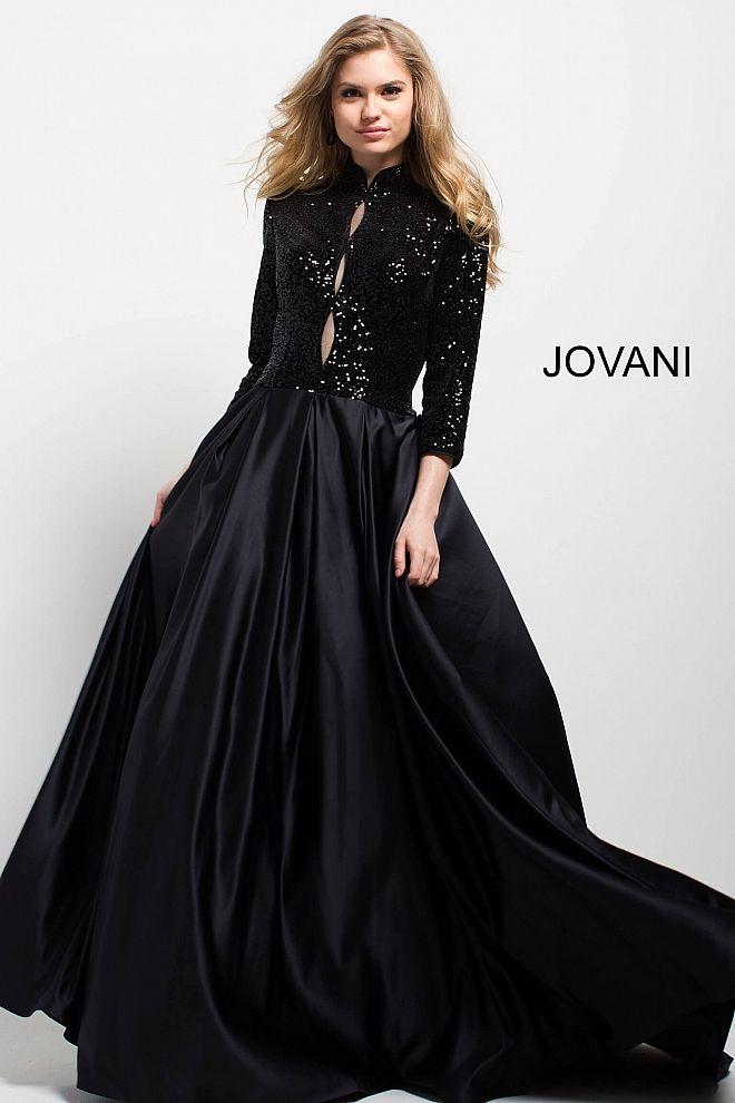 bd055dfb6d17 Trend Spotting: 2019's New Dramatic Black Gowns | Jovani Fall 2017 ...