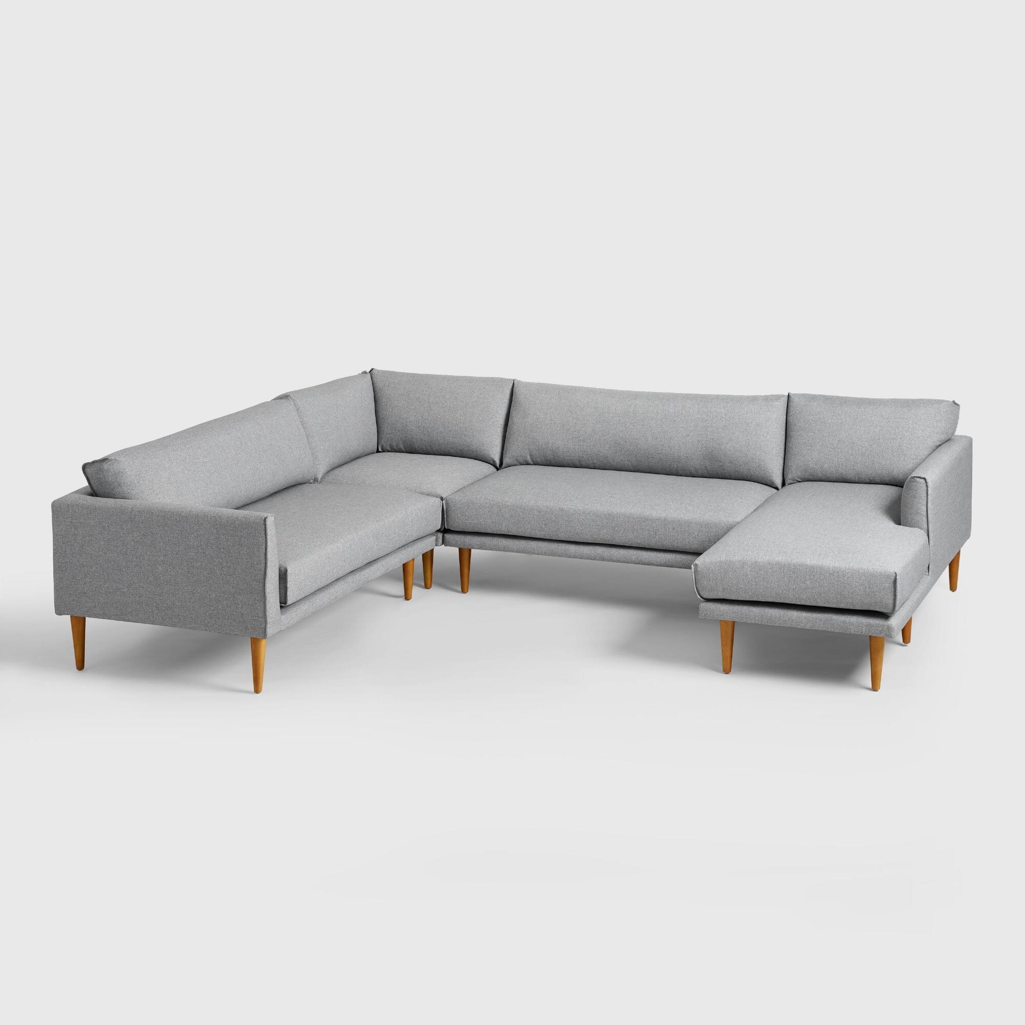 Gray Nica Sectional Sofa Collection