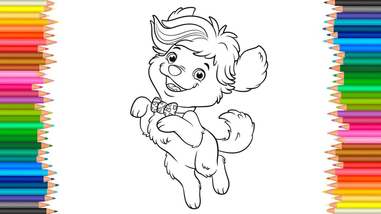 Sunny Day Doodle Puppy Dog Coloring Pages Coloring Book Markers