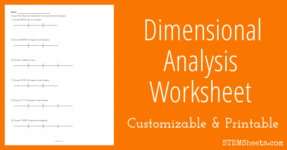 Practice Converting Measurements Using Dimensional Analysis With