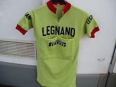 86b34b1d5 MAGLIA CICLISMO CYCLISME RADSPORT WIELRENNEN LEGNANO PIRELLI WOOL EPOCA  EROICA Cycling Wear