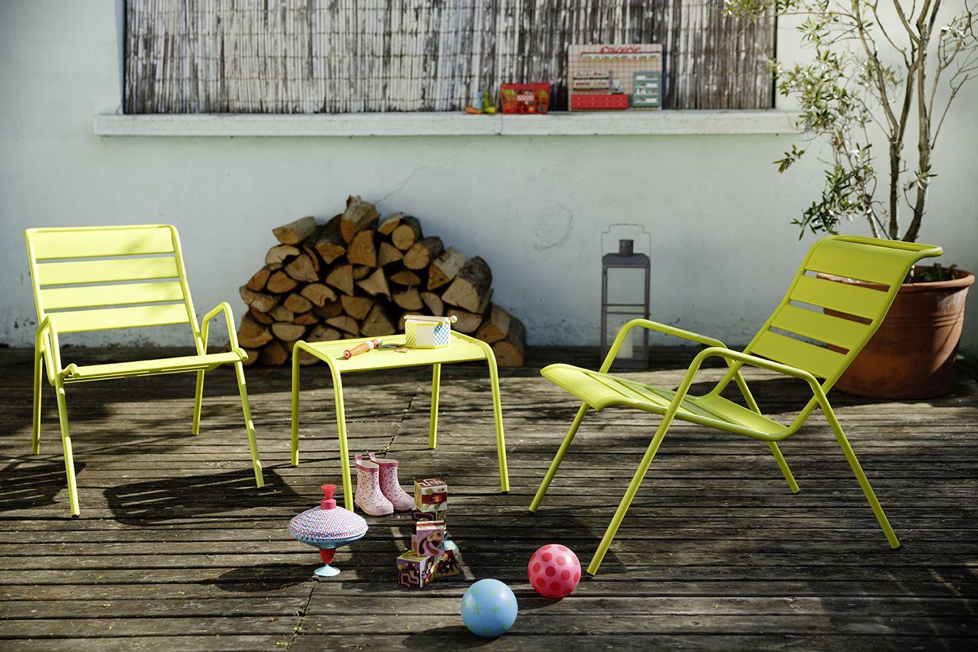 Fauteuil bas Monceau, fauteuil de jardin pour salon de jardin ...