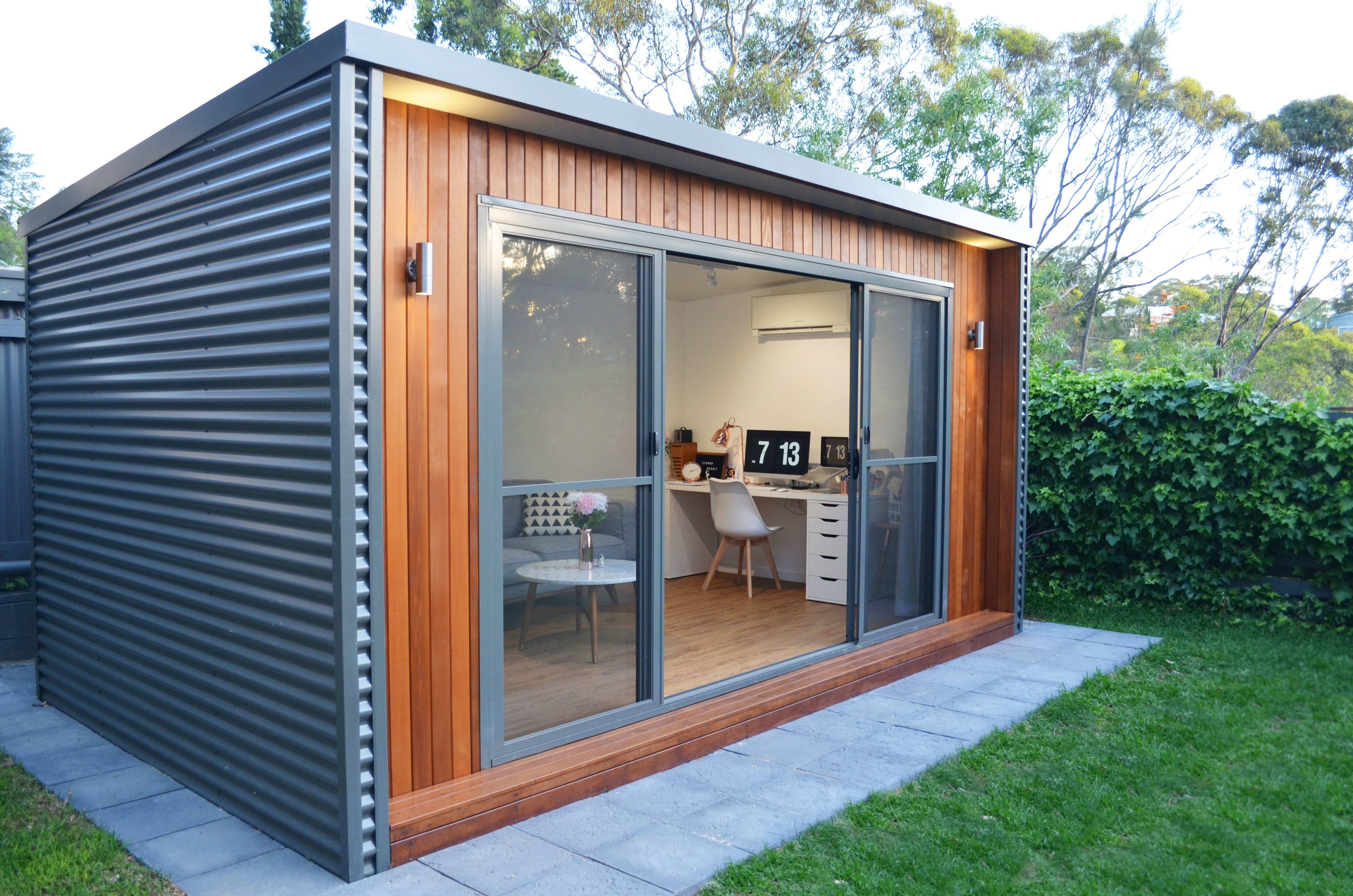 Design Studio Quaint And Neat As A Pin Backyard Studio Kamaroo Design Backyard Studio Backyard Office Studio Shed
