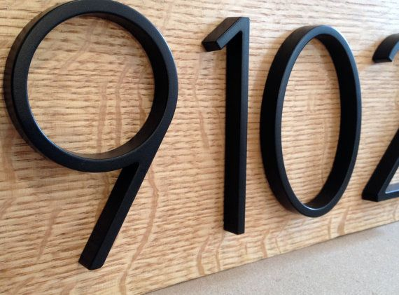 Modern Black House Numbers on Salvaged by MidwestSalvageStudio